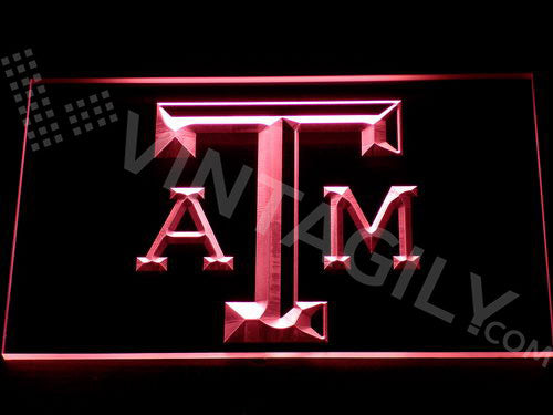 FREE Texas A&M LED Sign - Red - TheLedHeroes