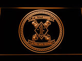 1st Battalion 11th Marines LED Neon Sign USB - Orange - TheLedHeroes