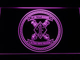 1st Battalion 11th Marines LED Neon Sign USB - Purple - TheLedHeroes