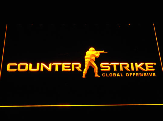 Counter Strike Global Offensive LED Sign - Yellow - TheLedHeroes