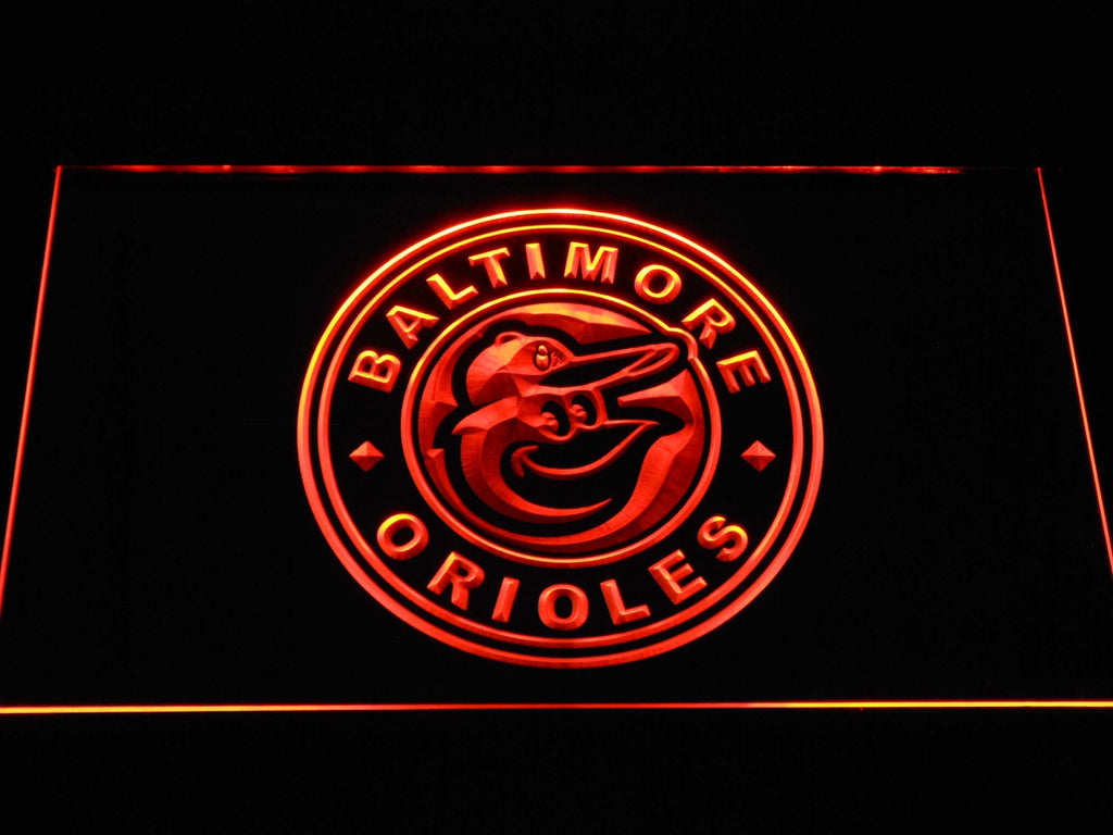 Baltimore Orioles (26) LED Neon Sign USB - Orange - TheLedHeroes