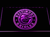 Baltimore Orioles (26) LED Neon Sign USB - Purple - TheLedHeroes