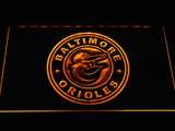 Baltimore Orioles (26) LED Neon Sign USB - Yellow - TheLedHeroes
