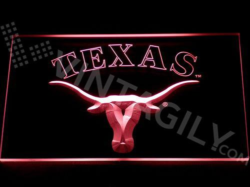 Texas Longhorns LED Neon Sign USB - Red - TheLedHeroes