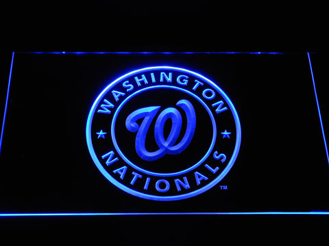 FREE Washington Nationals LED Sign - Blue - TheLedHeroes