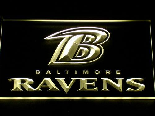 Baltimore Ravens (3) LED Neon Sign USB - Yellow - TheLedHeroes