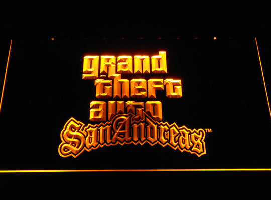 Grand Theft Auto San Andreas LED Sign - Yellow - TheLedHeroes