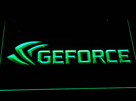 Ge Force LED Sign - Green - TheLedHeroes