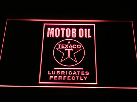 FREE Texaco Motor Oil LED Sign - Red - TheLedHeroes