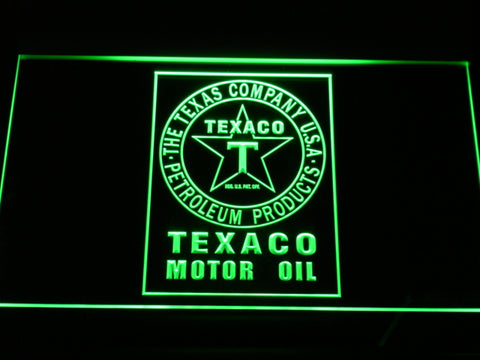 FREE Texaco Motor Oil (2) LED Sign - Green - TheLedHeroes