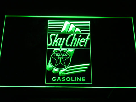 FREE Texaco Sky Chief Gasoline LED Sign - Green - TheLedHeroes