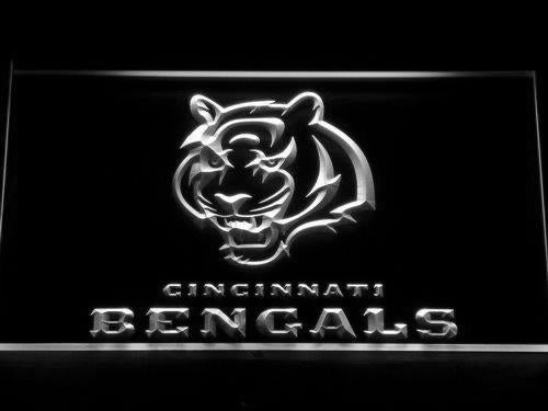 Cincinnati Bengals (2) LED Neon Sign USB - White - TheLedHeroes