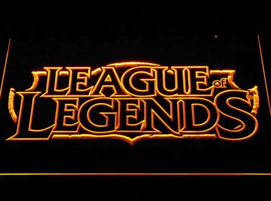 League of Legends LED Sign - Yellow - TheLedHeroes