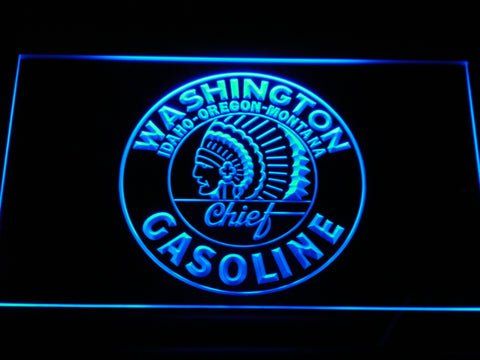 FREE Washington Chief Gasoline LED Sign - Blue - TheLedHeroes