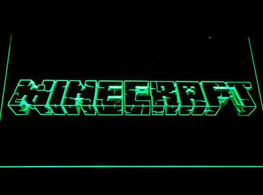 Minecraft Logo LED Sign - Green - TheLedHeroes