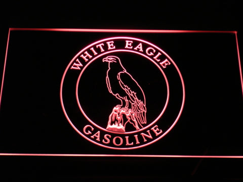 FREE White Eagle Gasoline LED Sign - Red - TheLedHeroes