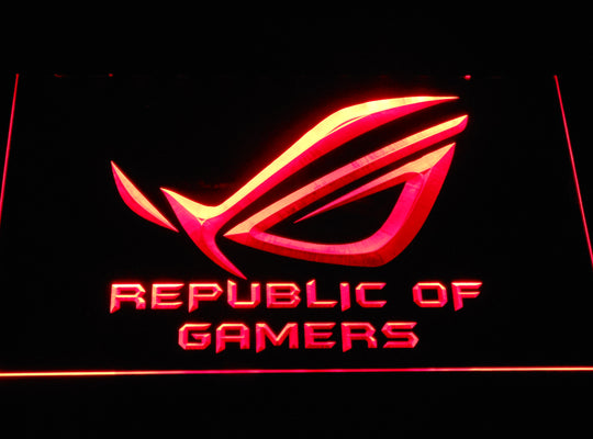 Republic of Gamers LED Sign - Red - TheLedHeroes