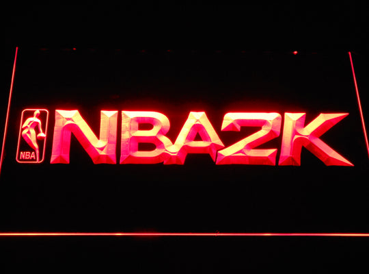 NBA 2K LED Sign - Red - TheLedHeroes