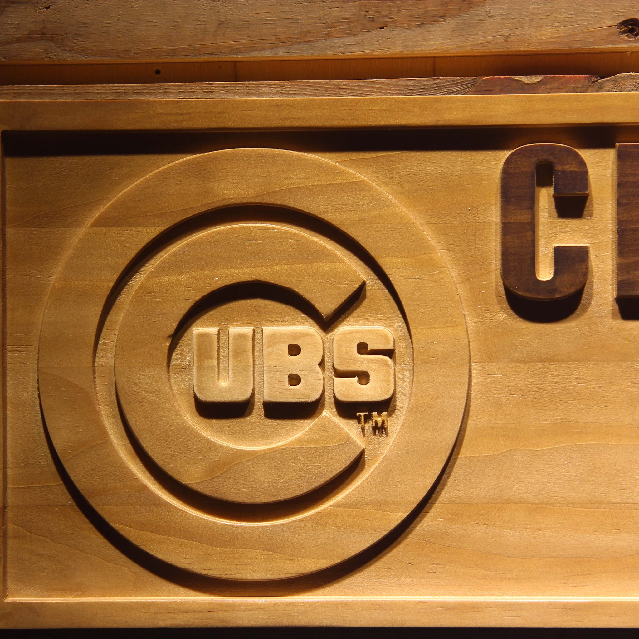 Chicago Cubs Wooden Sign Theledheroes Vintagilystore