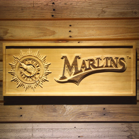 Miami Marlins Wooden Sign
