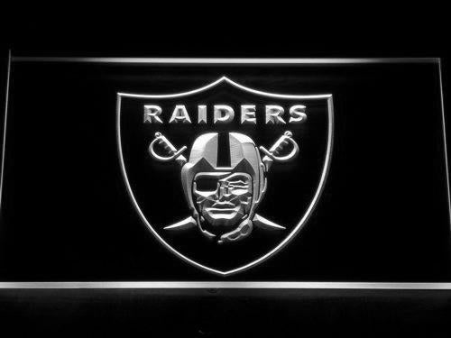 Oakland Raiders LED Neon Sign USB - White - TheLedHeroes