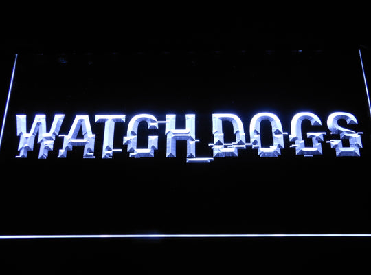 Watch Dogs LED Sign - White - TheLedHeroes