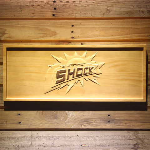 Detroit Shock Wooden Sign