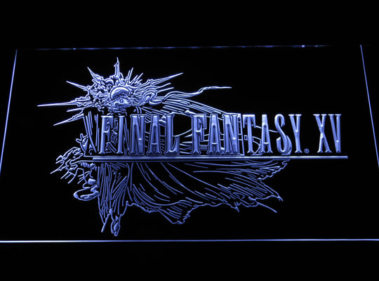 Final Fantasy 15 LED Sign - White - TheLedHeroes