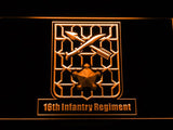 16th Infantry Regiment LED Neon Sign USB - Orange - TheLedHeroes