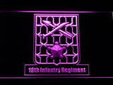 16th Infantry Regiment LED Neon Sign USB - Purple - TheLedHeroes