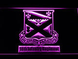18th Infantry Regiment LED Neon Sign USB - Purple - TheLedHeroes