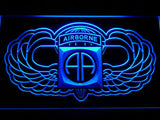 82nd Airborne Division (2) LED Neon Sign USB - Blue - TheLedHeroes
