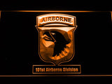 101st Airborne Division LED Neon Sign USB - Orange - TheLedHeroes