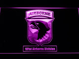 101st Airborne Division LED Neon Sign USB - Purple - TheLedHeroes