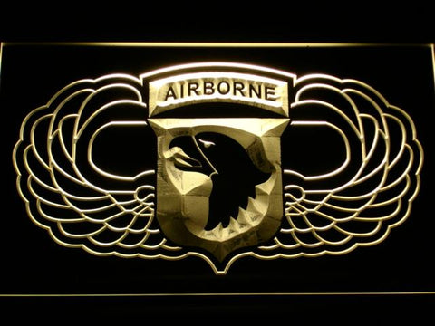 101st Airborne Division (2) LED Neon Sign USB - Yellow - TheLedHeroes