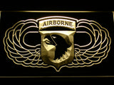 FREE 101st Airborne Division (2) LED Sign - Yellow - TheLedHeroes