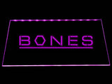 Bones LED Neon Sign USB - Purple - TheLedHeroes