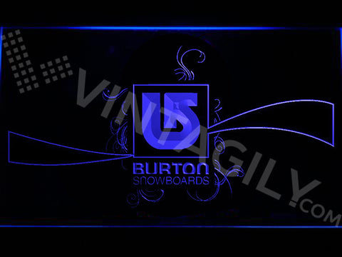 Burton Snowboards LED Sign - Blue - TheLedHeroes