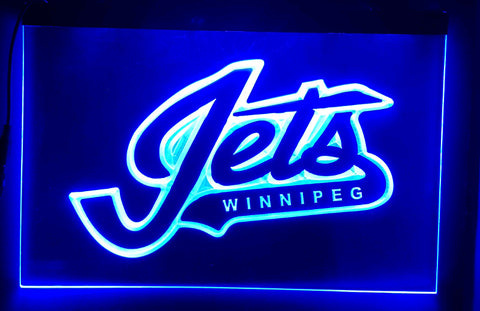 FREE Winnipeg Jets (4) LED Sign - Blue - TheLedHeroes