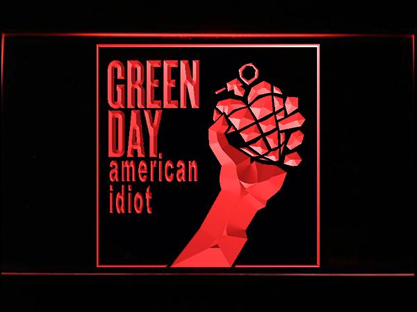 Green Day American Idiot LED Neon Sign USB - Red - TheLedHeroes