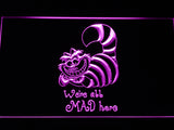 FREE Disney Cheshire Cat Alice in Wonderland (2) LED Sign - Purple - TheLedHeroes
