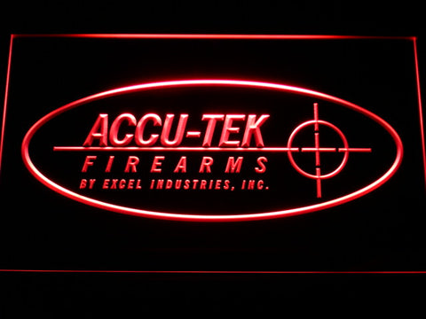 FREE ACCU-TEK Firearms LED Sign - Red - TheLedHeroes