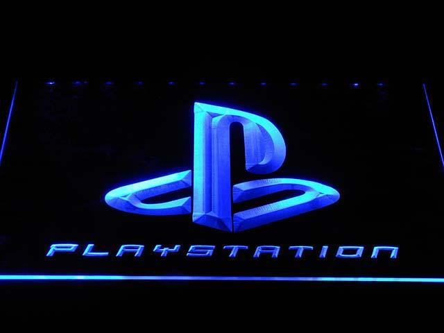 Playstation (2) LED Neon Sign USB - Blue - TheLedHeroes