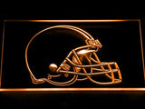 Cleveland Browns Helmet LED Neon Sign USB - Orange - TheLedHeroes