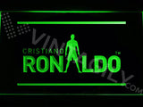 Cristiano Ronaldo 2 LED Sign - Green - TheLedHeroes