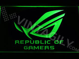 FREE Republic of Gamers LED Sign - Green - TheLedHeroes