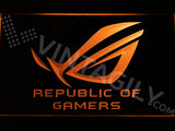 FREE Republic of Gamers LED Sign - Orange - TheLedHeroes
