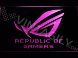 FREE Republic of Gamers LED Sign - Purple - TheLedHeroes