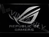 FREE Republic of Gamers LED Sign - White - TheLedHeroes