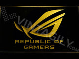 FREE Republic of Gamers LED Sign - Yellow - TheLedHeroes